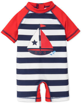 Little Me Striped Sailboat Rash Guard Swimsuit, Baby Boys