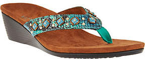 Vionic Orthotic Embellished Wedge Sandals -Marceau
