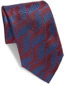 Charvet Abstract Leaf Silk Tie