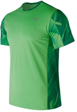 New Balance Men's MT71066 Accelerate Short Sleeve Graphic Top