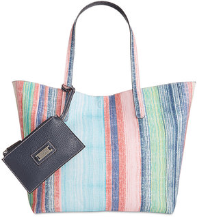 Style & Co Clean Cut Canvas Reversible Tote with Wristlet, Created for Macy's