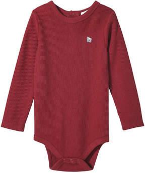 Joe Fresh Baby Boys' Elevated Graphic Bodysuit, Dark Red (Size 3-6)