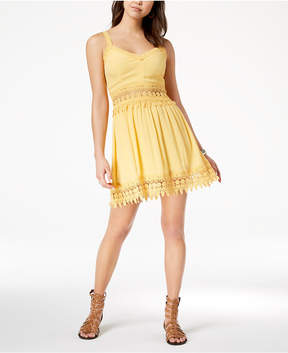 American Rag Juniors' Crochet-Trim Dress, Created for Macy's