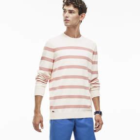 Lacoste Men's Striped Cotton Jacquard Sweater