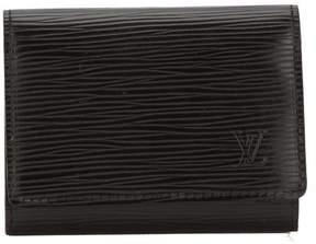 Louis Vuitton Noir Epi Enveloppe Cartes De Visite Card Case (Pre Owned) - BLACK - STYLE