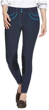 Ariat Women's Olympia Acclaim Knee Patch Front Zip Breech Long