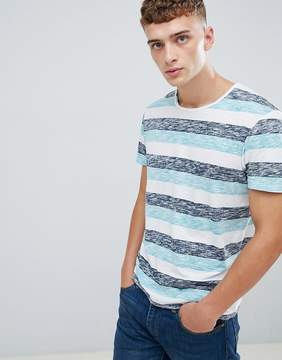 Esprit Stripe T-Shirt With Raw Edges