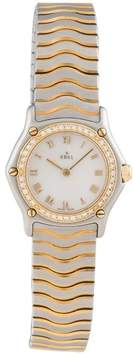 Ebel Sport Classic Mini Stainless Steel and 18K Yellow Gold Diamond 25mm Womens Watch