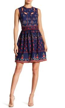 Alexia Admor Jewel Neck Cutout Dress