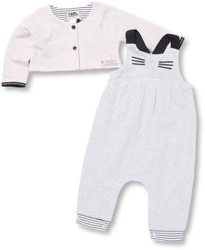 Karl Lagerfeld Little Girl's Two-Piece Jacket and Romper Set