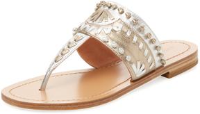 Sigerson Morrison Women's Aliyah Whipstitch Thong Sandal