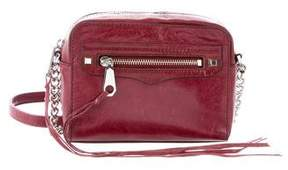Rebecca Minkoff Leather Crossbody Bag - BURGUNDY - STYLE