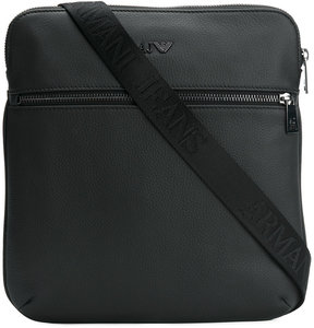 Armani Jeans monogram messenger bag