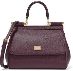 Dolce & Gabbana - Sicily Small Textured-leather Tote - Dark purple