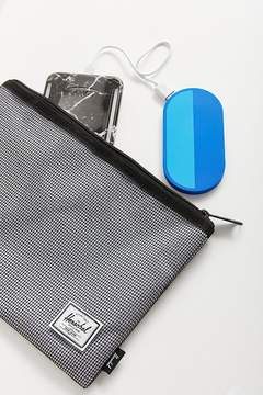 Herschel Network Large Mesh Checked Pouch