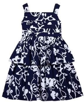 Oscar de la Renta Scribbles Sleeveless Dress