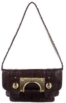 Diane von Furstenberg Embossed Leather Evening Bag