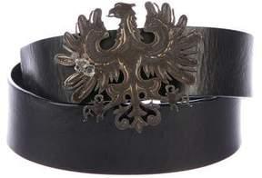 Valentino Eagle Leather Belt