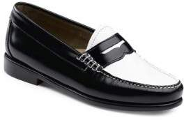 G.H. Bass Whitney Contrast Vamp Leather Penny Loafers