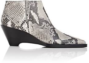 Acne Studios WOMEN'S CAMMIE SNAKESKIN-STAMPED LEATHER ANKLE BOOTS