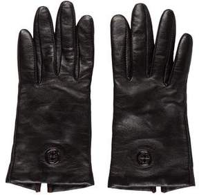 Tory Burch Leather Logo Gloves