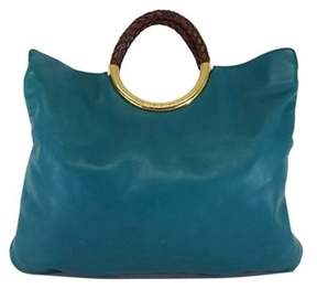 Michael Kors Teal Leather Tote - TEAL - STYLE