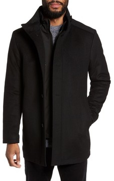BOSS Men's C-Coxtan Wool Blend Coat With Insert