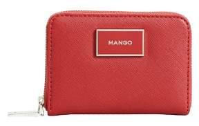 MANGO Zip saffiano-effect wallet