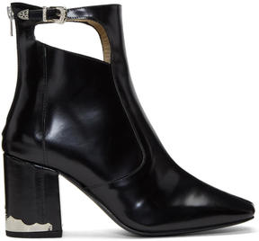 Toga Pulla Black Heeled Cut-Out Boots