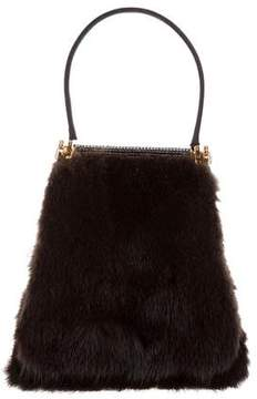 Judith Leiber Mink Fur Handle Bag