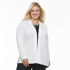 Croft & Barrow Plus Size Essential Open-Front Cardigan