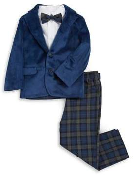 Nautica Toddler' and Little Boy's Four-Piece Suit Bow Tie, Top, Velvet Jacket and Pants Set