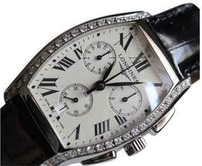 Longines L2.656.0.71.7 BNIB Evidenza Diamond Bezel Chrono Watch