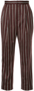 CITYSHOP striped high-waisted trousers
