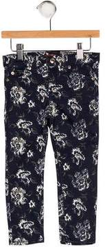 7 For All Mankind Girls' Floral Print Jeans