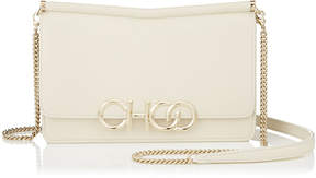 Jimmy Choo SIDNEY/M Linen Nappa Leather Cross Body Bag with Metal Logo