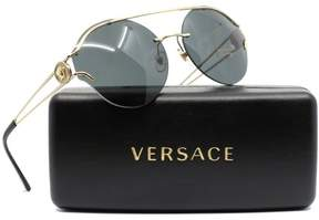 Versace VE2184 125287 Pale Gold Round Sunglasses