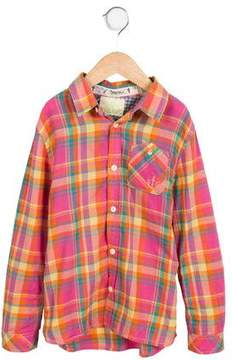 Scotch Shrunk Boys' Plaid Button-Up Shirt