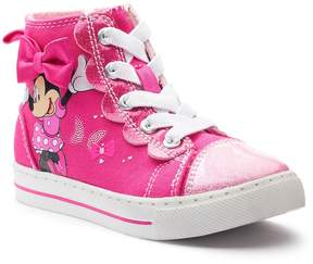 Disney Minnie Mouse Toddler Girls' High Top Sneakers