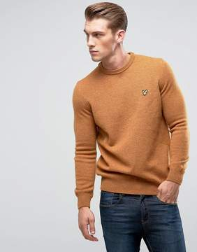 Lyle & Scott Premium Lambswool Sweater Dark Gold