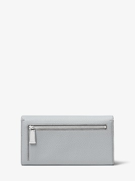 Michael Kors Bancroft Pebbled Calf Leather Continental Wallet - PEARL GREY - STYLE