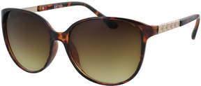 Kay Unger Tortoise Sterling Oversize Sunglasses