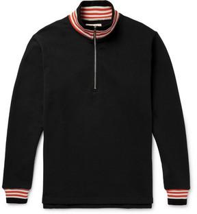 Noon Goons Court Loopback Cotton-Jersey Half-Zip Sweatshirt