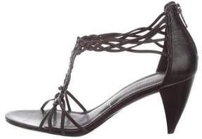 Sigerson Morrison Leather Woven Sandals
