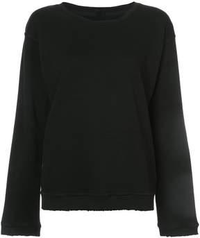 RtA raw edge sweatshirt