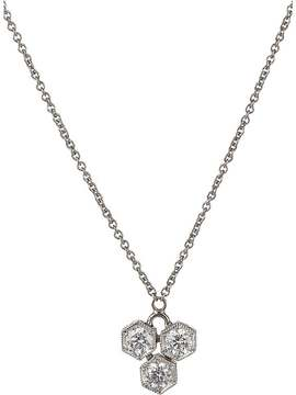 Cathy Waterman Women's Triple Hexagon Pendant Necklace