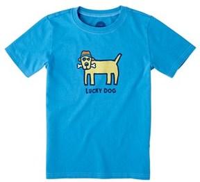 Life is Good Life Is Good? Boys' Lucky Dog T-shirt.
