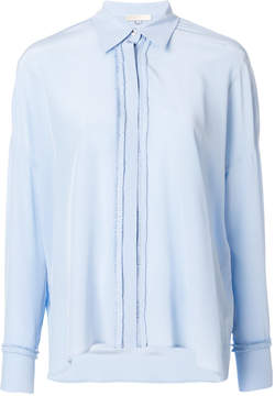Mantu frilled placket shirt
