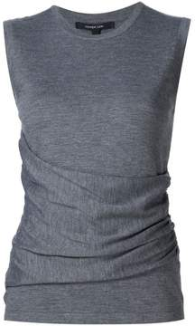 Derek Lam Sleeveless Gathered Top With Side Detail