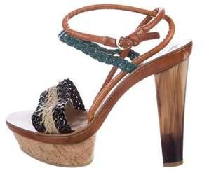 Etro Patent Leather Platform Sandals